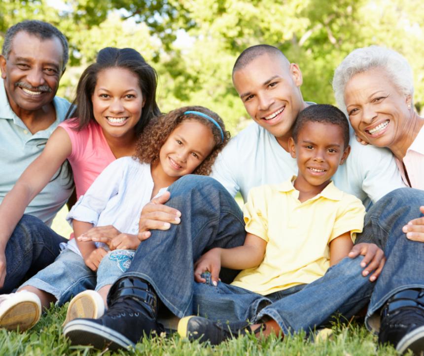 multi generational family photo
