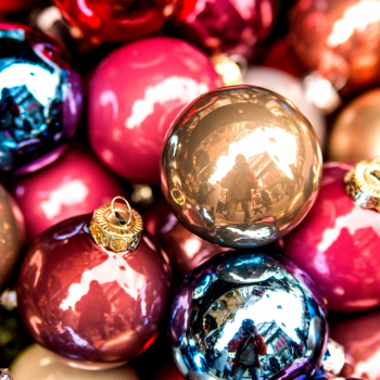 colorful holiday ornaments